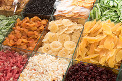 Collection of dried fruits at Deira. UAE Dubai. Stock Photography