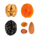 Collection of dried fruits Stock Photography