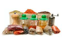 Collection dry spices Royalty Free Stock Image