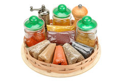 Collection dry spices Royalty Free Stock Photography