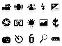 Collection of dslr camera symbol vector illustration