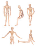 Collection of dummy wooden human figurine Stock Photo