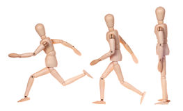 Collection of dummy wooden human figurine Stock Image