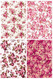 Collection dusty rose color vintage on fabric for background Stock Images