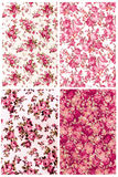 Collection dusty rose color vintage on fabric for background Royalty Free Stock Image