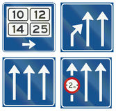 Collection of Dutch informational road signs Stock Photography