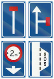 Collection of Dutch informational road signs Royalty Free Stock Images
