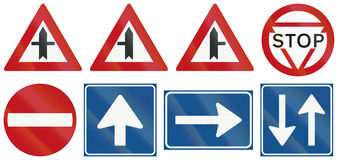 Collection of Dutch regulatory road signs Stock Photography