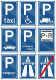 Collection of Dutch regulatory road signs Royalty Free Stock Photo