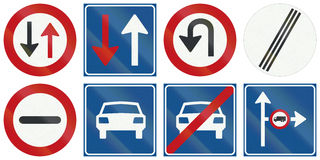 Collection of Dutch regulatory road signs Stock Photos