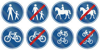 Collection of Dutch regulatory road signs Royalty Free Stock Images