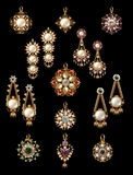 Collection of earring & pandant Stock Images
