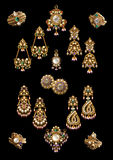 Collection of earring & pandant Stock Image