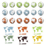 Collection of Earth Globes Royalty Free Stock Image