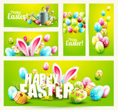 Collection of Easter banners or headers Stock Images