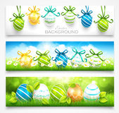 Collection of easter banners Royalty Free Stock Image