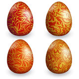 Collection easter egg with different pattern Stock Image