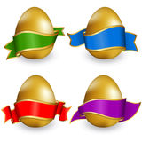 Collection easter egg with ribbon vector illustration