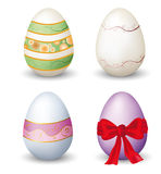 Collection of easter eggs Stock Photos