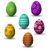 Collection of easter eggs. Colored collection of small easter eggs with shadow Royalty Free Stock Images