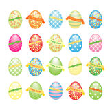 Collection of Easter eggs decorated Stock Image