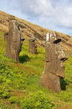 Collection of Easter Island Statues Stock Images