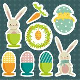 Collection of easter theme stickers Royalty Free Stock Image