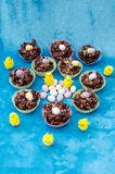 Easter Eggs Cakes and Chicks Stock Photos