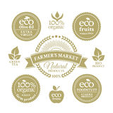 Collection of eco badges Stock Image