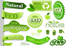 Collection of Eco Banners and Icons Royalty Free Stock Images