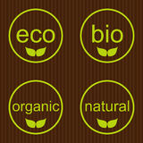 Collection of eco and bio labels Stock Images