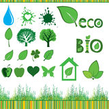 Collection Eco Design Elements Stock Image
