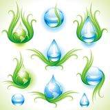 Collection of eco-icons. Stock Images