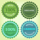Collection of eco label product Royalty Free Stock Photo