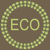 Collection of eco labels Stock Photo