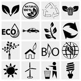 Eco logical Icons set. Collection of eco logical vector icon set isolated on grey background.EPS file available Stock Image