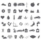 Collection of ecological icons Royalty Free Stock Images