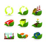 Collection of ecology icons Stock Photography