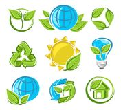 Collection ecology icons. Vector Stock Images