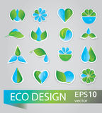Collection of ecology signs Royalty Free Stock Photos