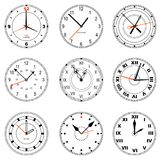 Collection of editable clock icons Stock Photos