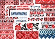 Collection of 30 Seamless Ethnic Patterns for Embroidery Stitch vector illustration