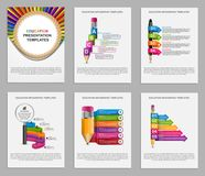 Collection Education Infographics template. Infographics for business presentations or information banner. Stock Image