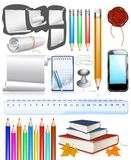 Collection of education objects Royalty Free Stock Images