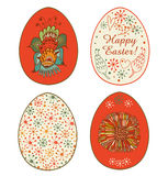 Collection of eggs design. Set with Easter decoration Royalty Free Stock Photo