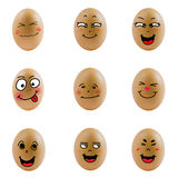 Collection of eggs with happy face ( no.4) Stock Image