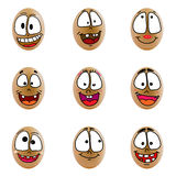 Collection of eggs with happy face ( no.5) Stock Photos