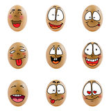 Collection of eggs with happy face ( no.6) Royalty Free Stock Photo