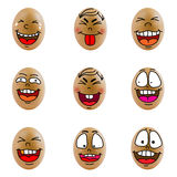 Collection of eggs with happy face ( no.8) Stock Image