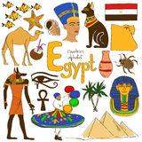Collection of Egypt icons Stock Photo